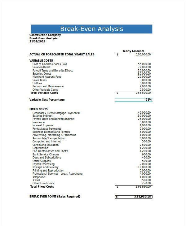 Employee Attendance Tracker Financial Plan Template Business