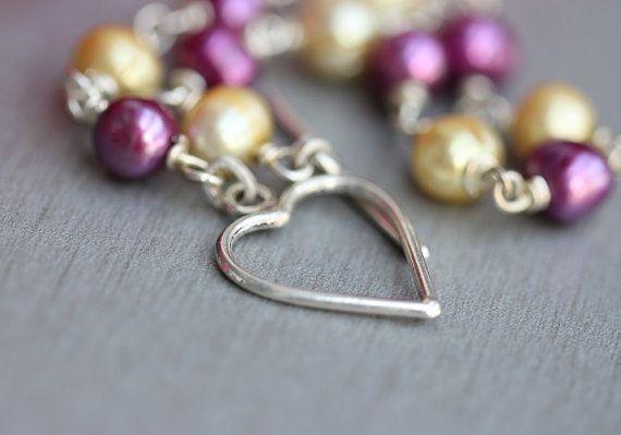 Artisan Pearl bracelet  handmade  gemstone bracelet by Studio1980