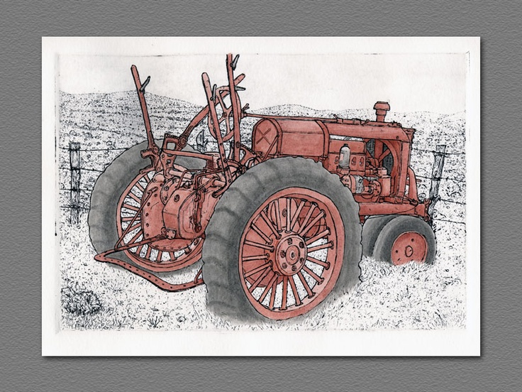 Rusting in Retirement  Etching by The Wretched Etcher