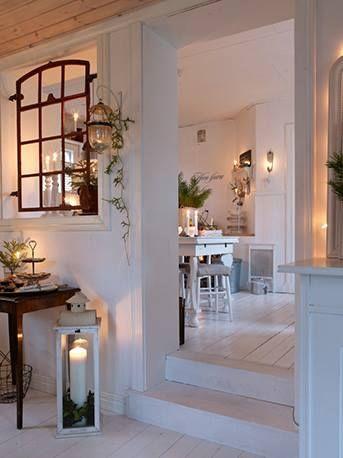 coole weihnachtsdekoration für weißes interior