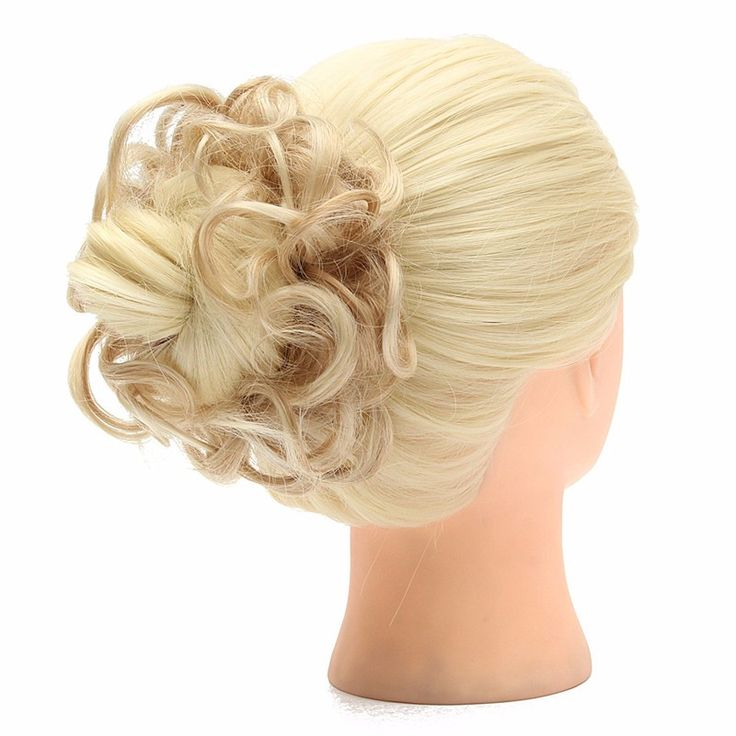 1PC Buns Hair Piece Updo Bride Bun Natural Elastic Hairpiece Wavy Messy Multifuctional Synthetic Curly Hair Chignon