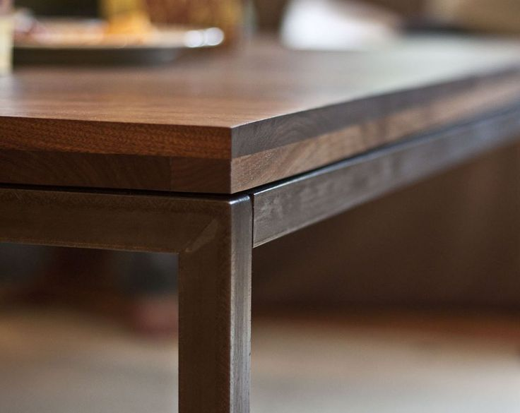 Walnut & Angle Iron Coffee Table - Click to see the whole project; totally worth it!