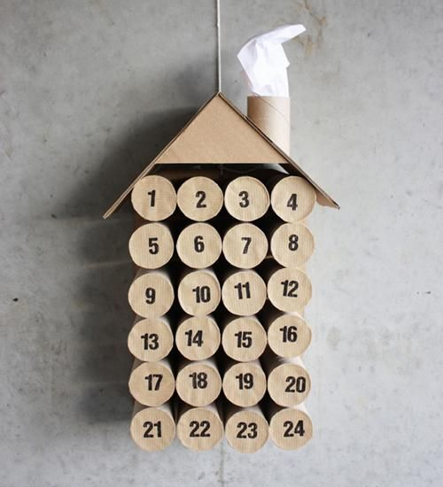 Recycle your toilet rolls into an advent calendar!