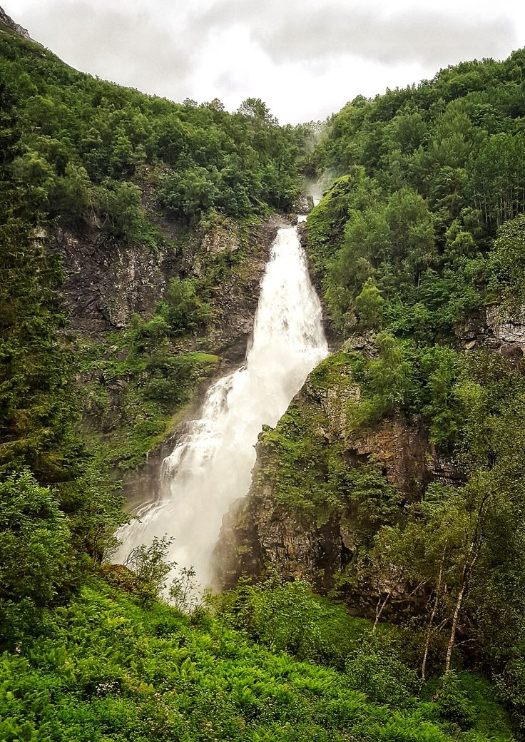 Waterfall in Flåm, Norway