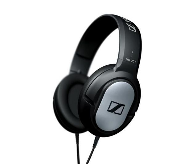 SENNHEISER  HD 201 Headphones - Black, Black Price: £ 16.99 The black Sennheiser HD 201 Headphones are great for isolating yourself from surrounding noise. Anywhere you are, you can focus on what you are listening to. These closed, dynamic on-ear headphones deliver powerful sound with a full frequency response range from 21 to 18,000 Hz. They're a pleasure to use for a wide variety of music...