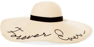 0aab1273f8f8e Eugenia Kim Forever Ever Embroidered Woven Paper Sunhat - Ivory ...