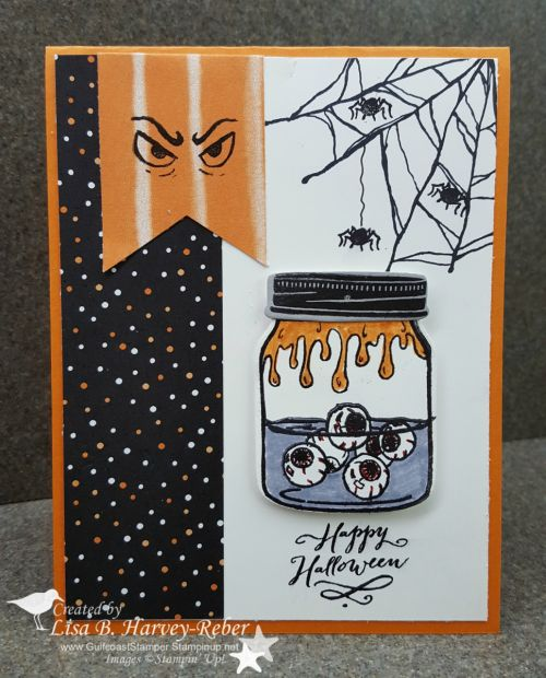 Halloween Card Making Ideas Part - 32: Jar Of Haunts U0026 Ghoulish Grunge Halloween Card - SU. Halloween Cards ...