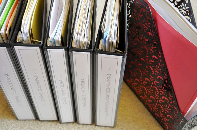 Diy Important Document Binders Binder And Organizing