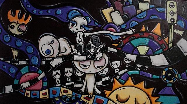 """""""Imsomnia""""  acrylic on canvas  070 x 40 cm, available"""