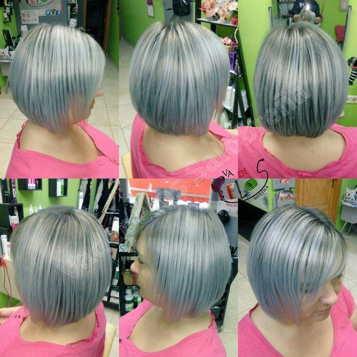 Así de guapa hemos dejado a Ramona 😍😍 Mil gracias guapa 😘😘 #pelogris #grisplata #cambiodelook #tendencias2017 #cabello #pelosano #grayhair #grey  #newlook #hairstyle #peluqueriasensalobreña #peluqueriayesteticavadepelos