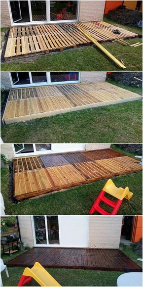 This is the end of how the custom designing of the wood pallet terrace work will…   – Garten Ideen