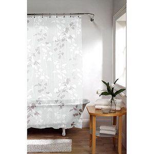 Leaf Print Shower Curtain Brown Leaf Shower Curtain