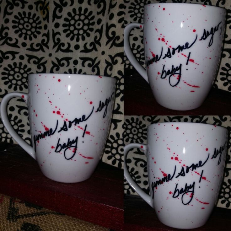Gimme Some Sugar Baby, Bruce Campbell, Army of Darkness, Evil Dead, Hand Painted, Kiln Fired, Cult Classic, horror movie, coffee mug quote by LunaZingara on Etsy