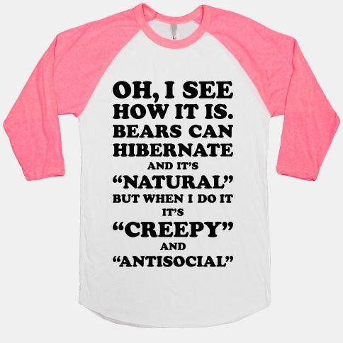Hibernation | HUMAN | T-Shirts, Tanks, Sweatshirts and Hoodies