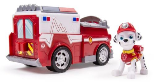 Paw-Patrol-Marshall-Ambulance-Vehicle-Figure-And-Rescue-Works-with-Paw-Patroller