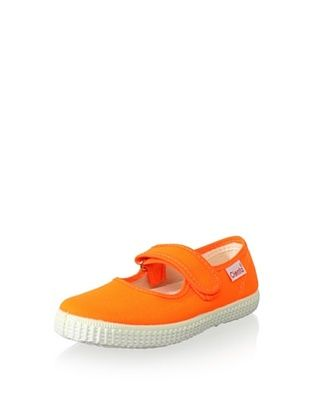 45% OFF Cienta Kid's 217 Velcro Mary Jane (Orange Neon)