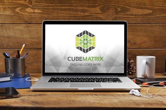 Cube Matrix Logo by tkent on @creativemarket