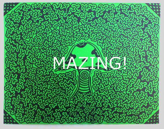 Maze Art  Art You Can Follow on 8x10 by TwistedFingerDesigns