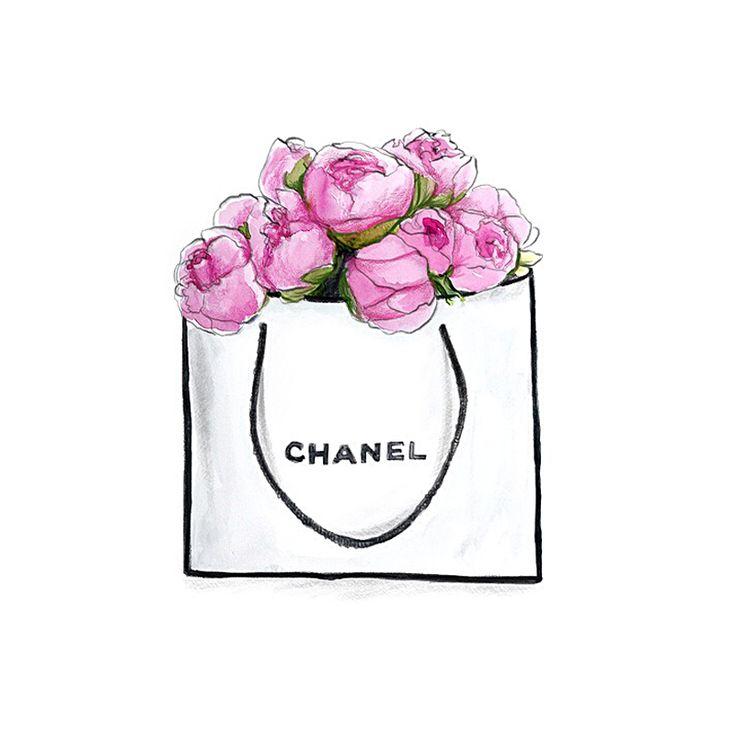 #chanel #fashionillustration #peonies
