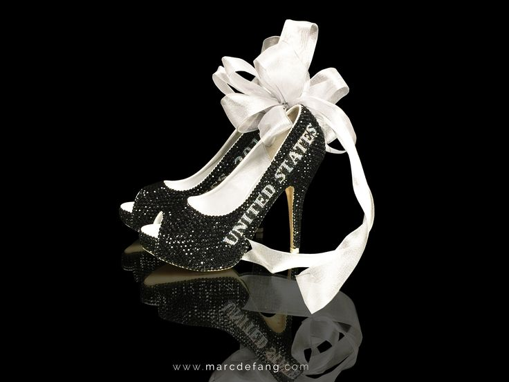 #MarcDefang #Black #Crystal #heelS #Pageant #Title #ShoEs #MISSUSA http://www.marcdefang.com/pageant-ladies/