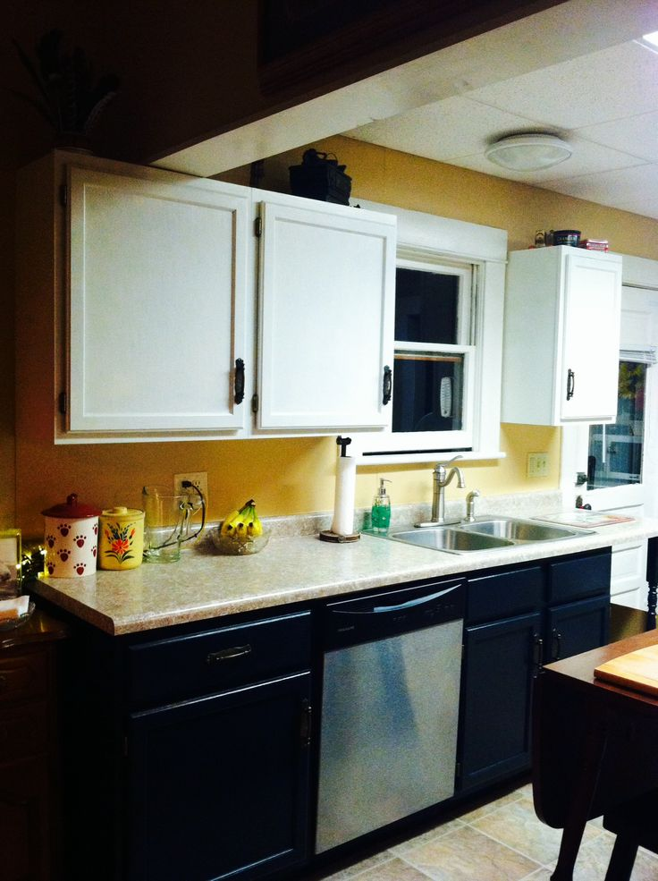 Paint same cabinets but painted with sherwin williams for Alabaster kitchen cabinets