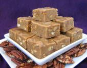 Pecan Pie Fudge - the nuts are toasted, but other than that, no baking!  The amount of pecans seems like waaaay too much, and I read a review that said the amount called for was excessive, so when making this I'd add the nuts little by little instead of all at once, just in case.