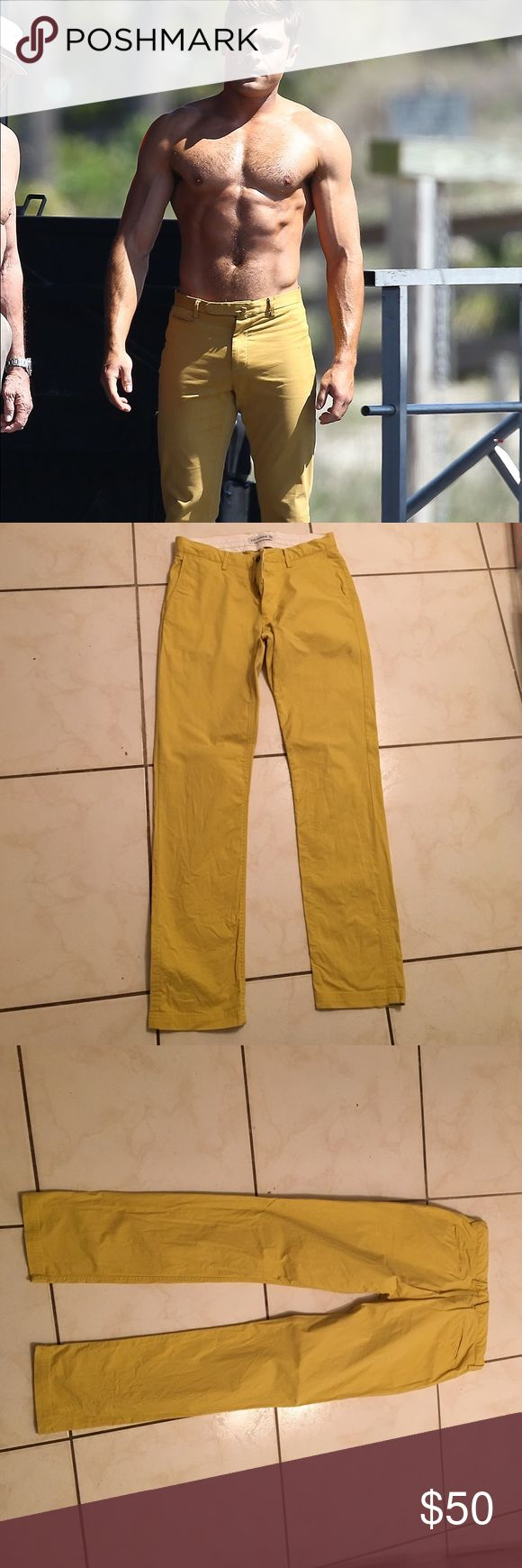Ben Sherman yellow chinos Yellow chinos - similar to the ones worn by Zac Efron in 'Bad Grandpa' Ben Sherman Pants Chinos & Khakis