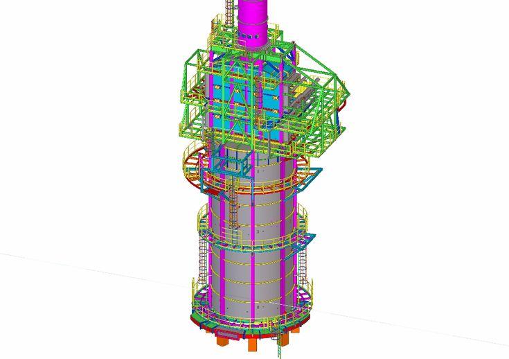 Delineación industrial de Horno Refinería de Total Optara Project (AMBERES, BÉLGICA)
