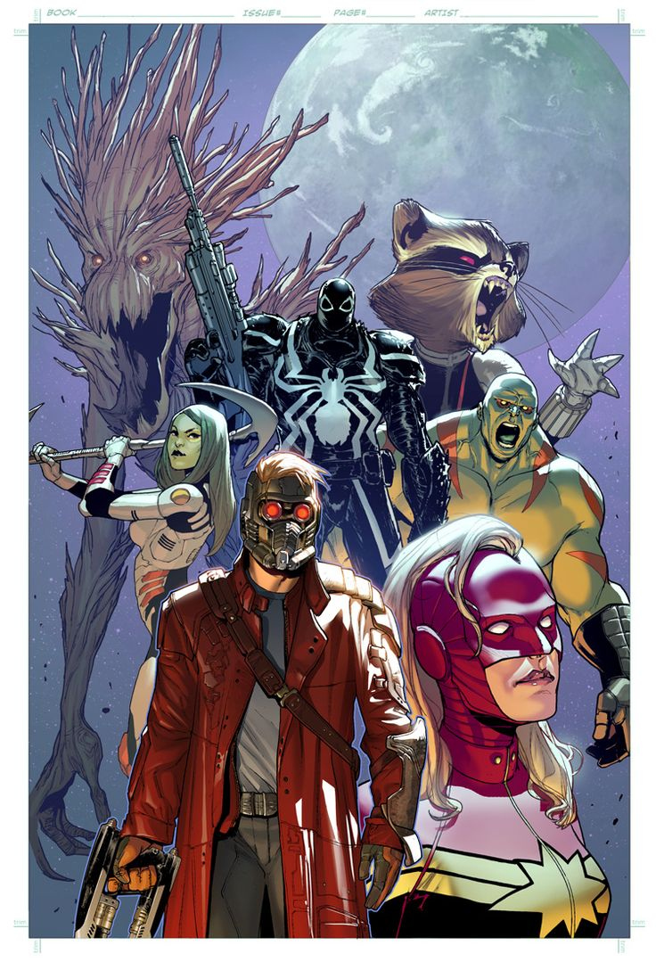 Guardians of the Galaxy and Venom by Sara Pichelli *