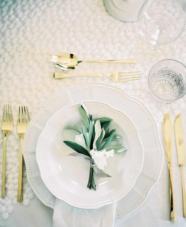Table Setting Detail | Lily & Sage | Luxury Wedding Planning & Styling | Photography-Katie Julia | Flowers-Westwood Design | Cutlery- Vintage Gold China.