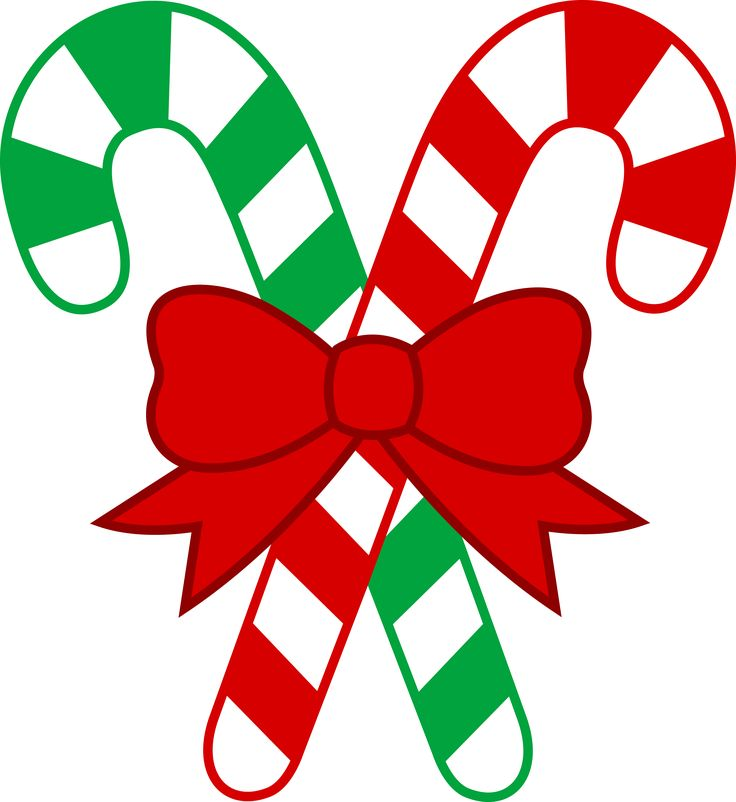 Red And Green Christmas Transparent PNG Candy Cane Clipart