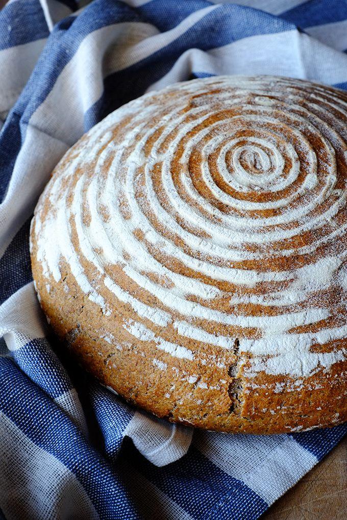 Pane di grano saraceno con pasta madre liquida