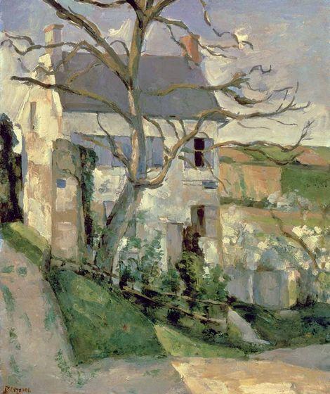 Paul Cézanne, The House and the Tree on ArtStack #paul-cezanne #art