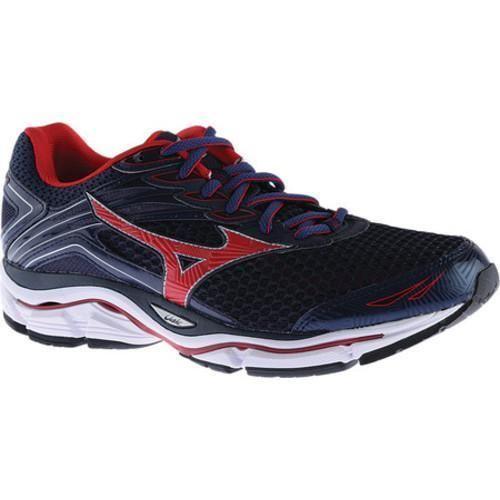 Men's Mizuno Wave Enigma Running Shoe Dress Blue/Chinese Red/