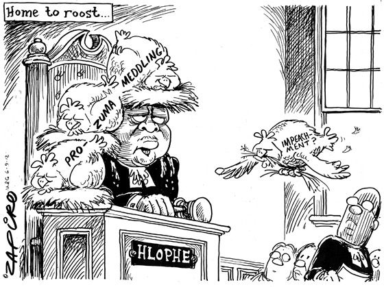 Chicken coming home to roost - Zapiro: Hlophe - Mail & Guardian