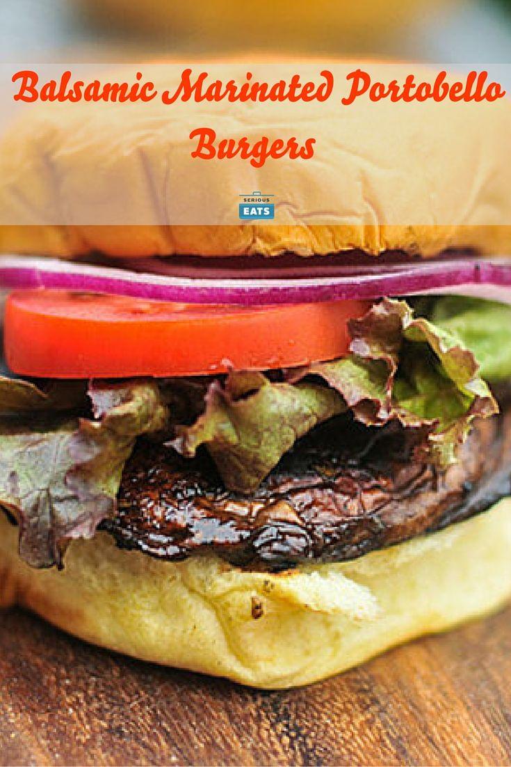 Balsamic Marinated Portobello Burgers