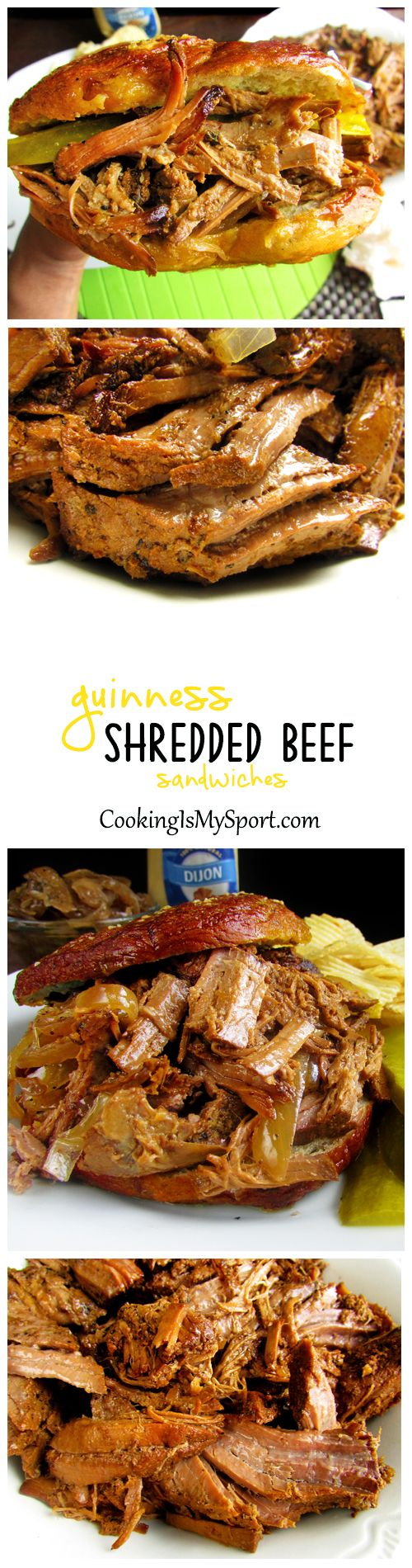 Guinness Shredded Beef Sandwiches