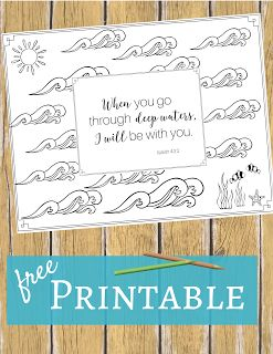 when you go through deep waters i will be with you isaiah - Isaiah 64 8 Coloring Page