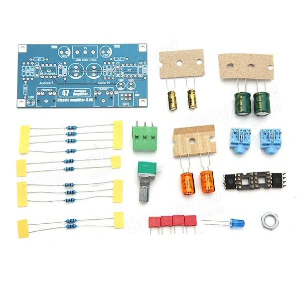 47 AMP 6V Classic Power Earphone Amplifier PCB DIY Electronic Kit