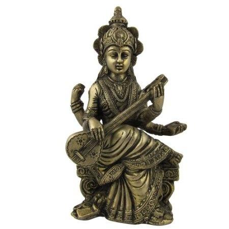 Amazon.com: Goddess Saraswati Statues Sculptures Made in Brass: Home & Kitchen