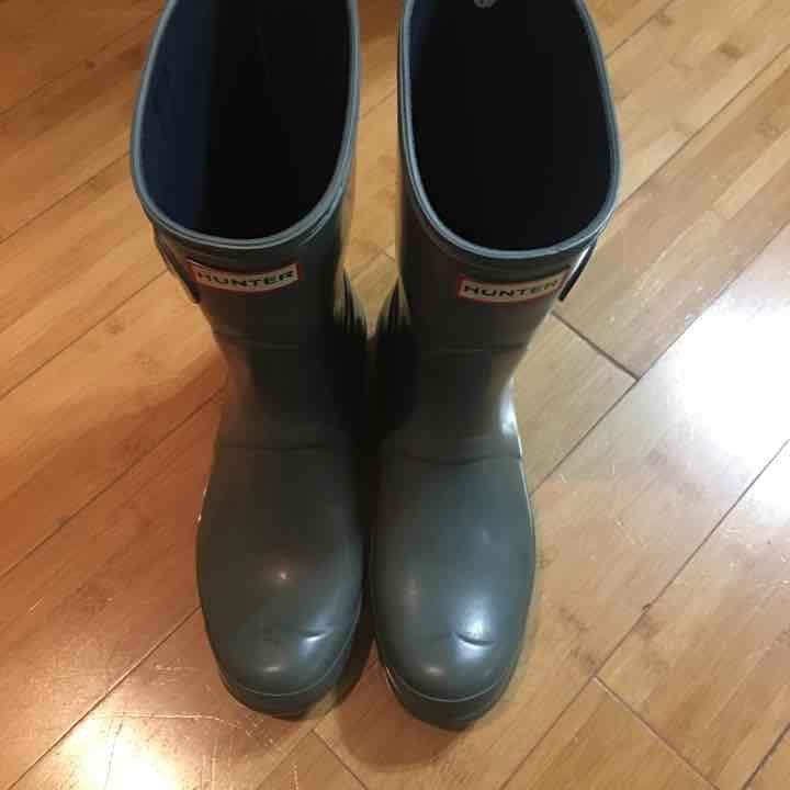 Short Hunter Grey Boots Size 9 - Mercari: Anyone can buy & sell
