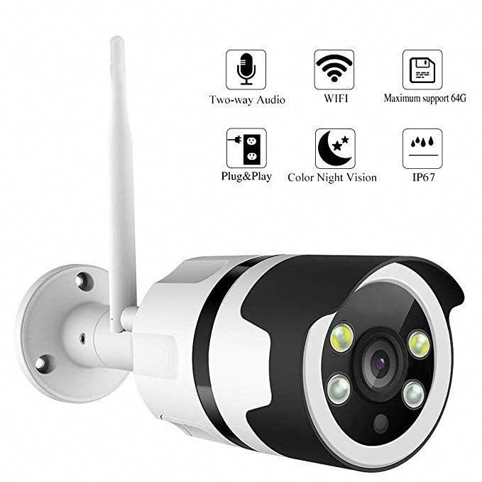 HD 1080P Wifi IP Camera Color Night Vision Motion Detection Two Way Audio
