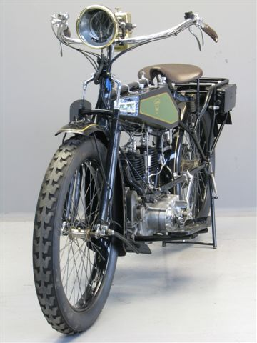 """Wanderer ca. 1920 """"Model 616"""" 616 cc side valve V-twin  Wanderer motor cycles were manufactured in the German town of Chemnitz between 1902 and 1929. The Wanderer company also built high-quality bicycles, typewriters, mechanical calculators and cars. In the early twenties the firm employed more than 6000 labourers. Wanderer motorcycles had an excellent reputation; they were sturdily built and their finish was first class. Between 1914 and 1918 the German army used many Wanderers"""