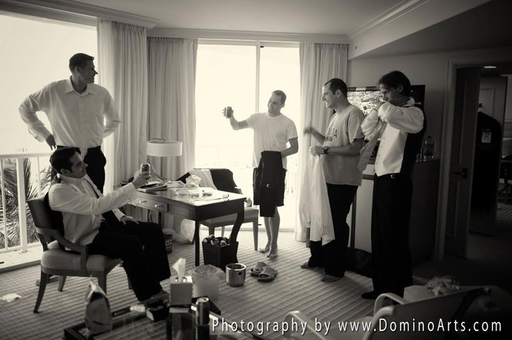 #Groom and #ushers getting ready for The #Wedding Day!