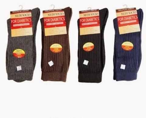 Wholesale Men's Diabetic Socks - Size 10-13 (Case of 144)