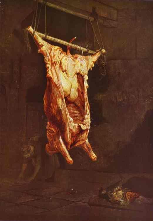 Rembrandt / Le Boeuf Écorché / 1655