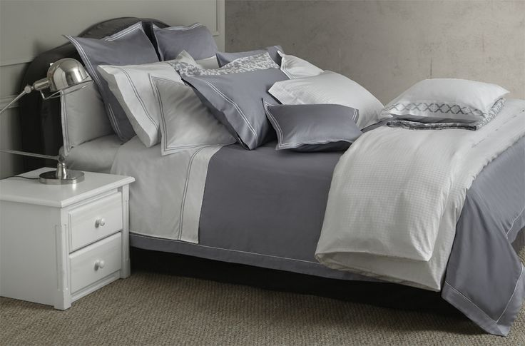 Bellora Luxury Collection. #luxury #interiordesign #home #bedlinen #sateen #quality #bellora #grey #white #bed
