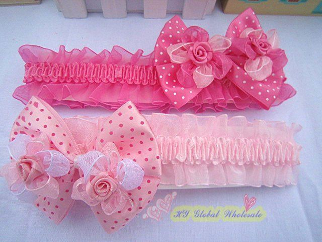 Freeshipping!! NEW double rose flower  headbands/ baby/kids headband/ Hair wear/Hair Accessories/Fashion gifts/Wholesale