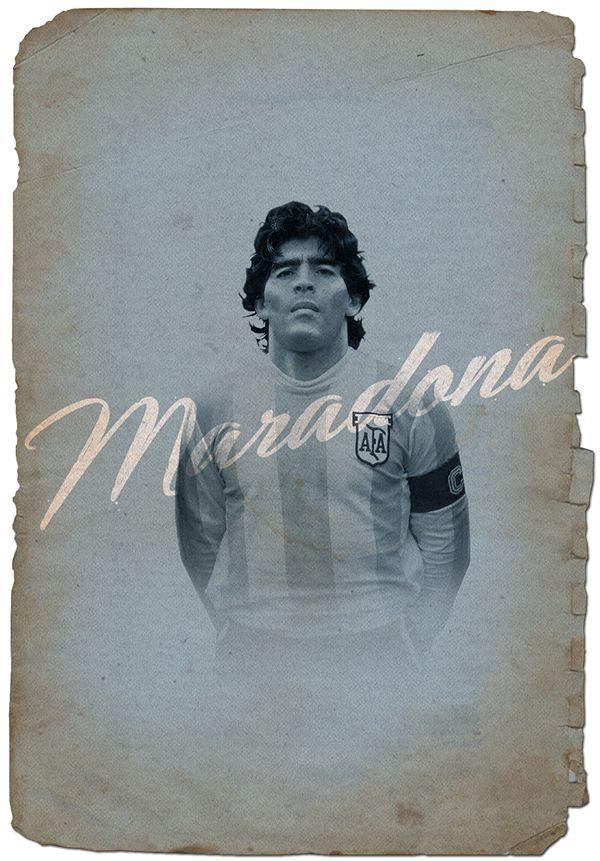 Maradona // Cruyff y los 5 grandes on Behance