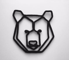 Commande tête ours en origami géante. by TricoTiCota on Etsy